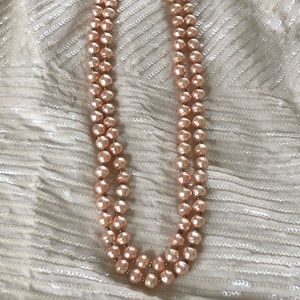 Jewelry - Double strand pearl bead necklace.